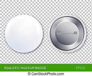 Realistic Mockup Badge Transparent Icon Set