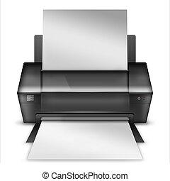 Realistic modern printer. - Realistic modern printer...