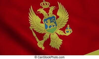 Realistic Montenegro flag
