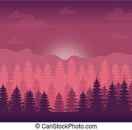 realistic mountain landscape design