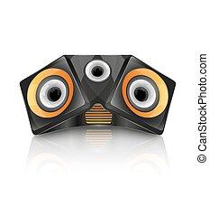 Realistic music speaker