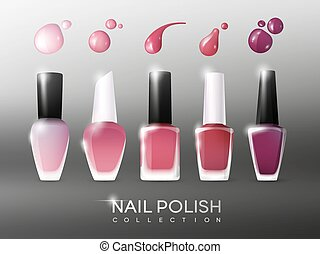 Realistic Nail Polish Collection