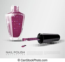 Realistic Nail Polish Template