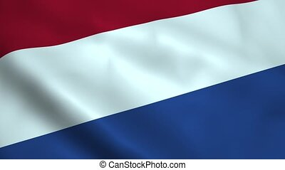 Realistic Netherlands flag