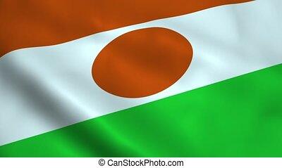 Realistic Niger flag
