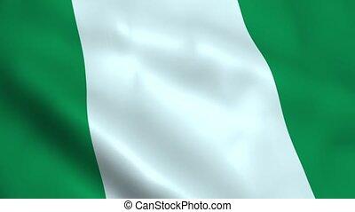 Realistic Nigerian flag