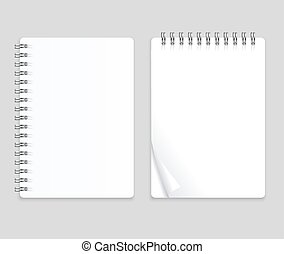 Realistic Note Template Blank Set. Vector