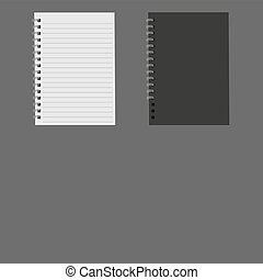 Realistic notebook, vector.