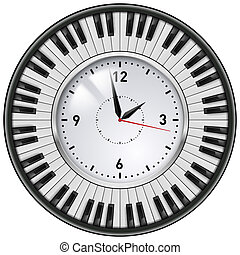 Realistic Office Clock Piano keys