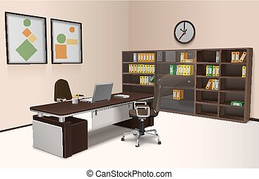 Realistic Office Interior