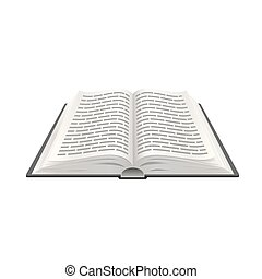 Realistic open book 3d, Paper object education, Vector illustration