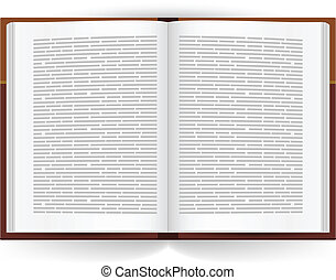 Realistic open book. Illustration on white background