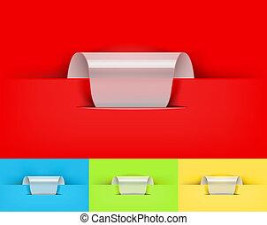 realistic paper design elements