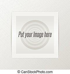 Realistic paper Photo Frame with Shadows