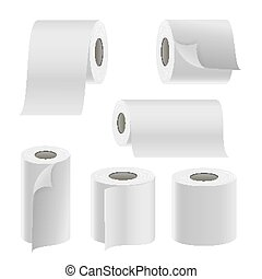 blank white toilet paper roll packaging mockup isolated clipping