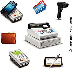 Realistic Payment Set - Realistic payment set with cheque...