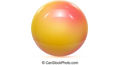 Realistic Pearl Ball or Sphere. Vector