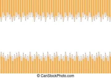 Realistic pencils border.
