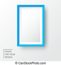 Realistic picture frame background made in vector