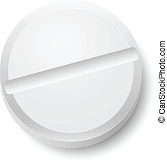 Realistic Pill. Illustration on white background for design