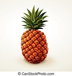 Realistic pineapple design