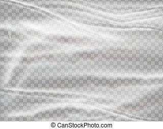 Realistic plastic polyethylene wrap vector texture on ...