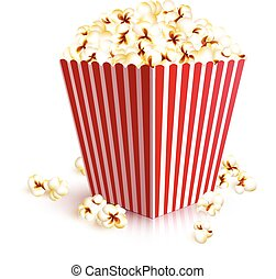 Realistic Popcorn Bucket - Realistic four squared paper...