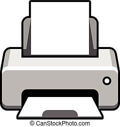Realistic printer icon