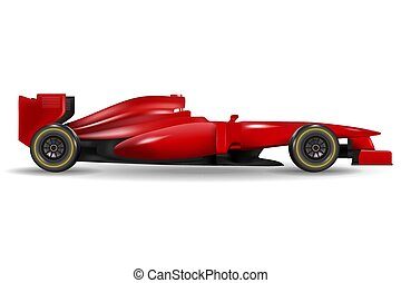 Realistic race car