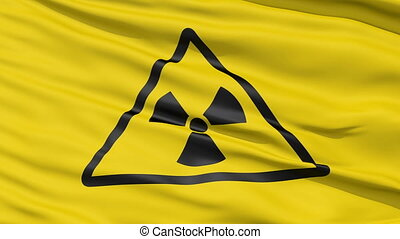 Realistic Radiation flag - Realistic 3D detailed slow motion...