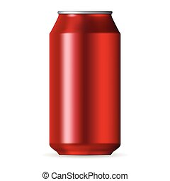 Realistic red aluminum can