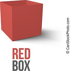 Realistic Red Box isolated on white background Vector