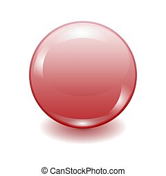 realistic red plastic button