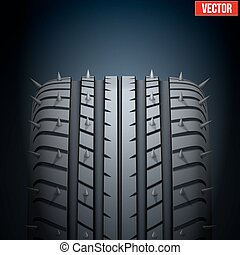 Realistic rubber tires and spikes banner. Vector ...