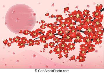 japan cherry branch