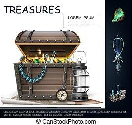 Realistic Sea Treasures Concept