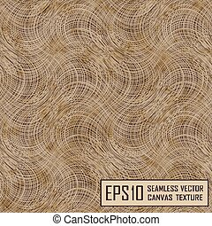Realistic seamless texture of burlap, canvas. Beige, brown.