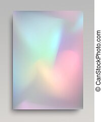 Realistic shining holographic foil