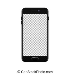 Realistic smartphone icon isolated on white background. Vector design template, EPS10 mockup.
