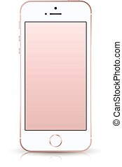 Realistic smartphone iphone style mockup. Vector illustration. for printing and web element, Game and application mockup.