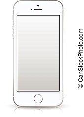 smartphone iphone style mockup. - Realistic smartphone...