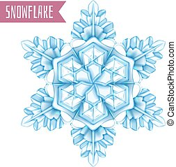 Realistic Snowflake Composition