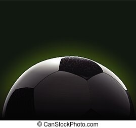 Realistic Soccer Ball Banner