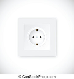 Realistic Socket Vector Template