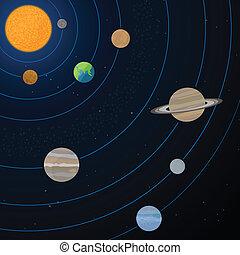 Realistic Solar System Illustration