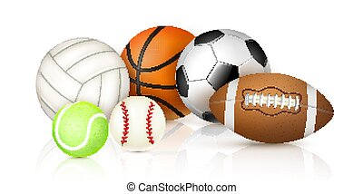 Realistic Sport Balls - Sport balls collection for...
