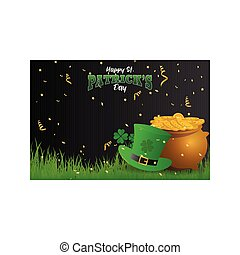Realistic St. Patrick's day background and banner