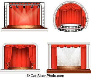 Realistic Stage Design Set