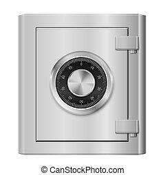 Steel safe - Realistic Steel safe. Illustration on white...