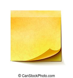 Realistic sticky note on white background